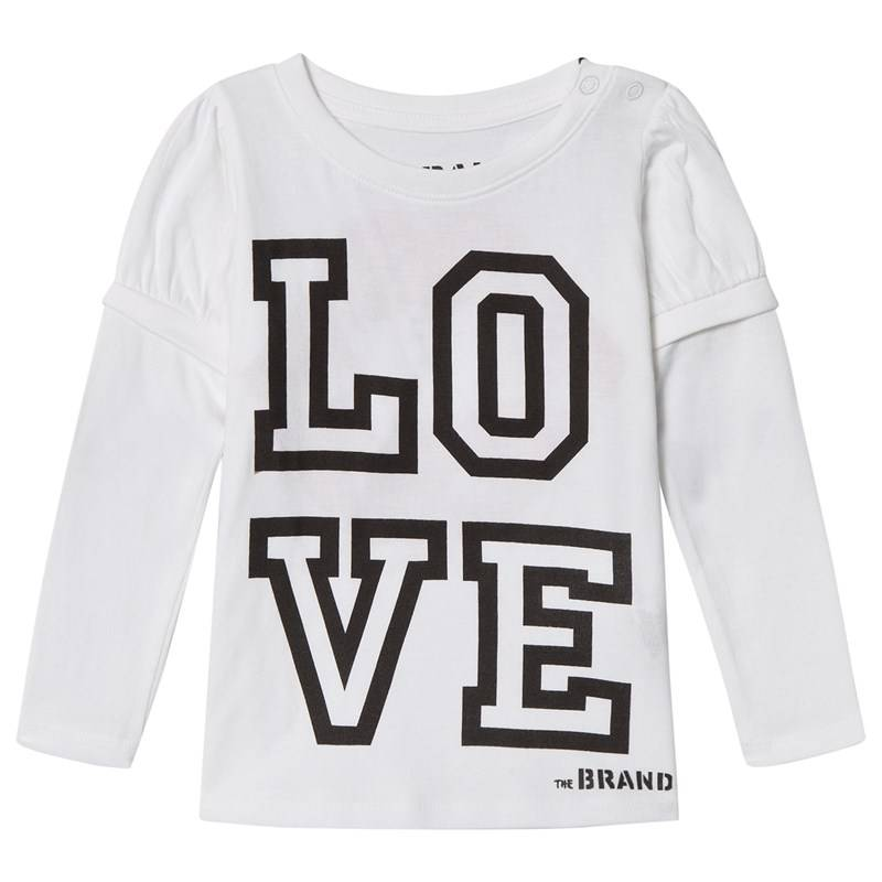 The BRAND Love Kiss Tee White With Black Sleeve80/86 cm
