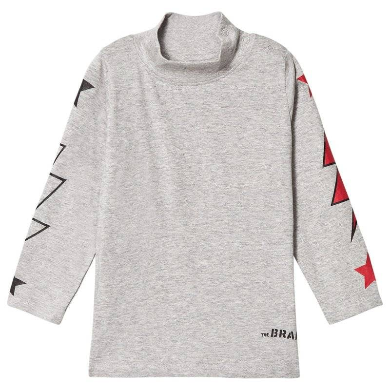 The BRAND Polo Bolt Tee LS Grey Mel With Red Stars80/86 cm