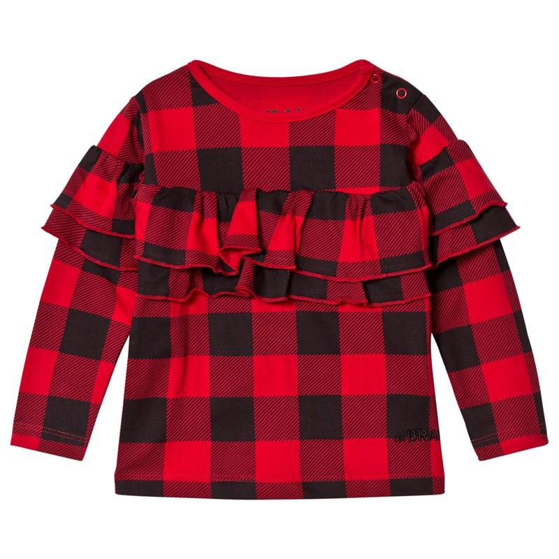 The BRAND Sleeve Wave Top Red Checked80/86 cm