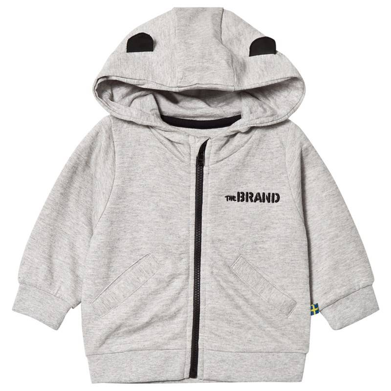 The BRAND Baby Face Hoodie Grey Mel With B-Moji56/62 cm