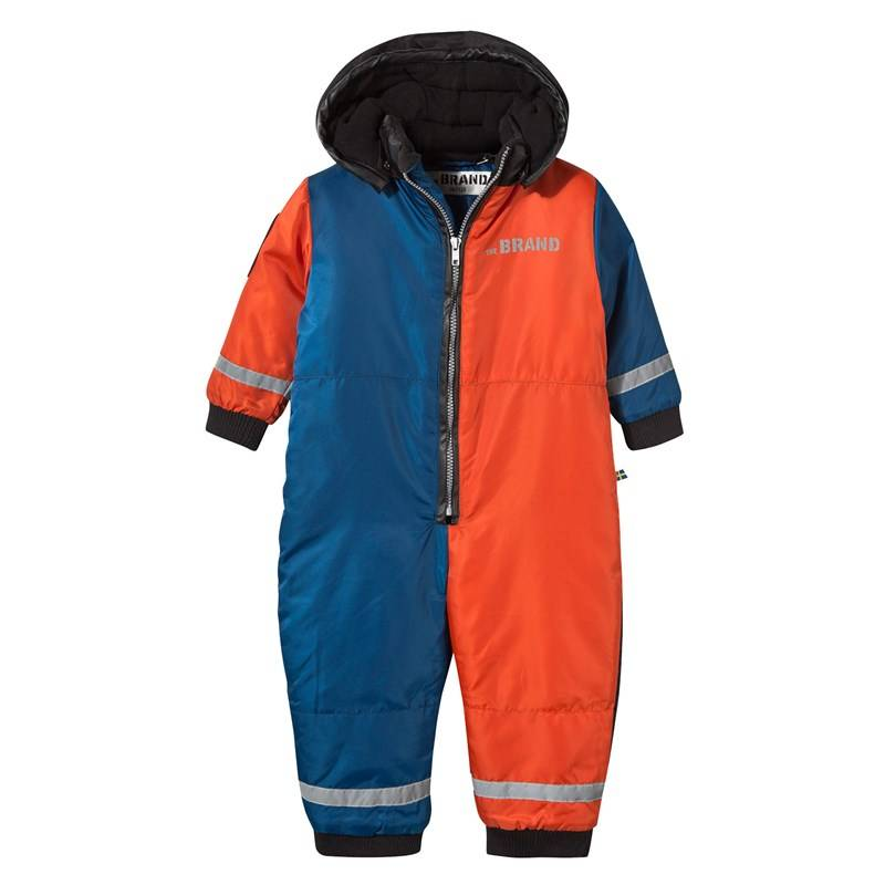 The BRAND Winter Overall Block Red/Black/Blue56/62 cm