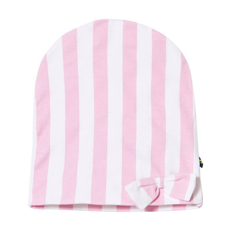 The BRAND Bow Hat Pink Stripe