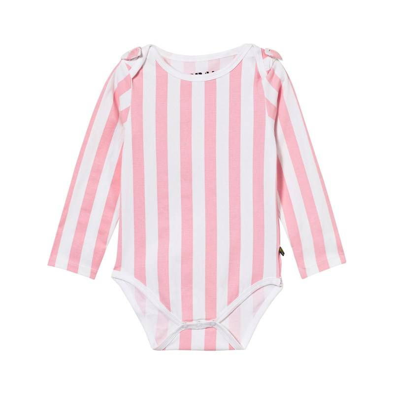 The BRAND Bow Baby Body Vaaleanpunaraidallinen56/62 cm