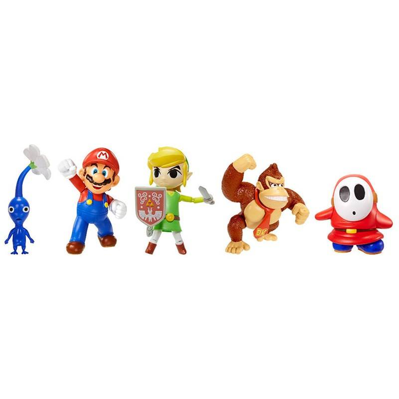 Super Mario Classic Characters Figure Set, 5-pack