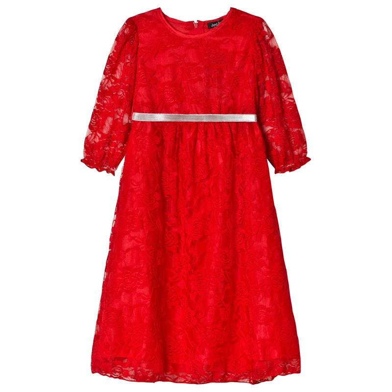 Jocko Baby christmas dress in red lace with silver belt98 cm