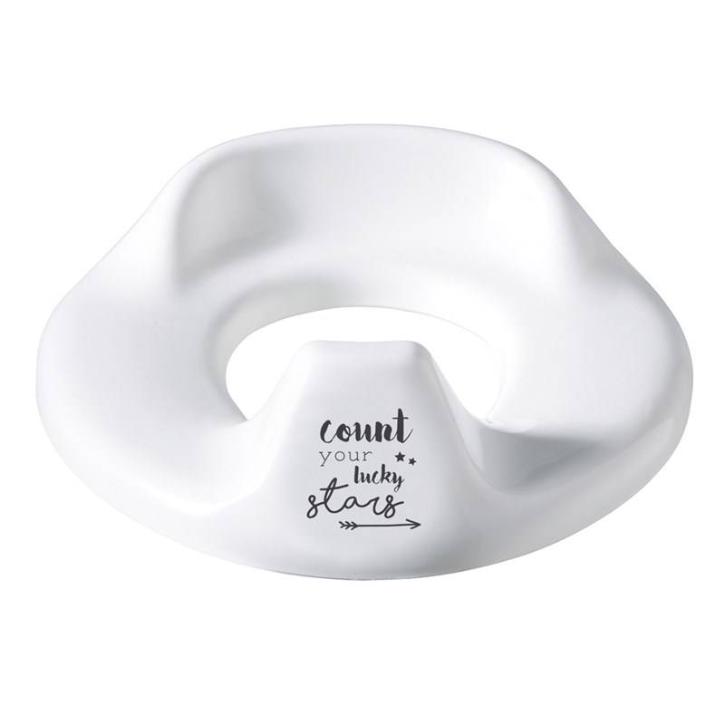 Bebe-Jou Toilet Trainer Adjustable Lucky Quotes White