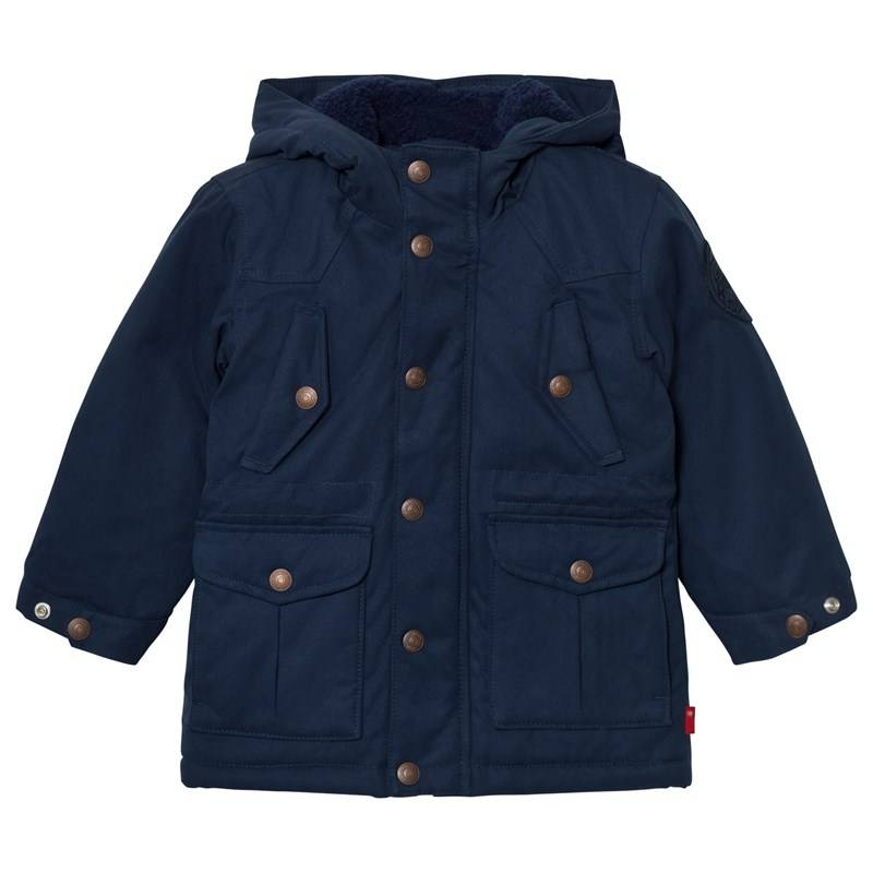 Levis Kids Navy Padded Hooded Parka with Full Teddy Lining2 years