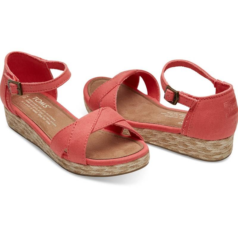 Toms Sandaalit, Young, Coral Cotton Twill30 EU