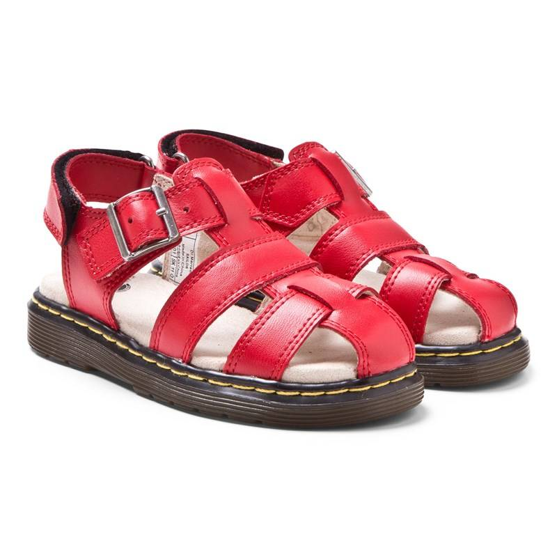 Dr. Martens Red Moby Infants Fisherman Sandals31 (UK 13)