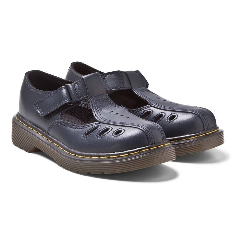 Dr. Martens Navy Ashby Infants Cut Out Bar Sandals36 (UK 3)
