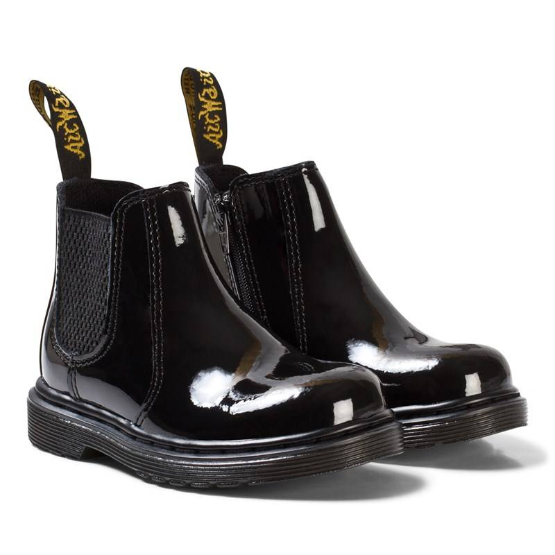 Dr. Martens Black Patent Leather Banzai Chelsea Boots23 (UK 6)