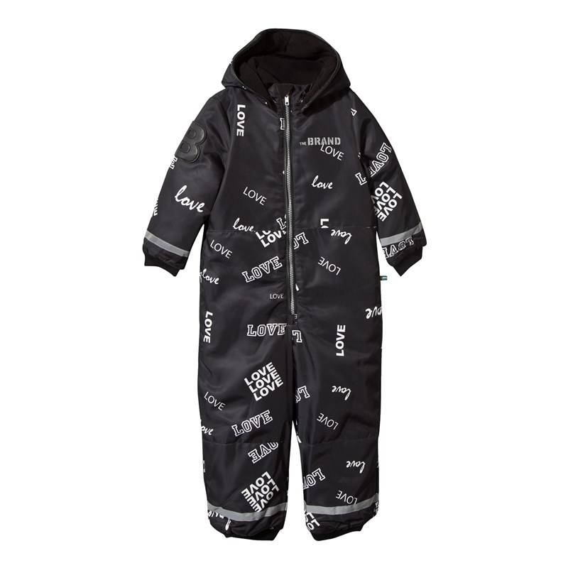 The BRAND Winter Overall Black Love56/62 cm