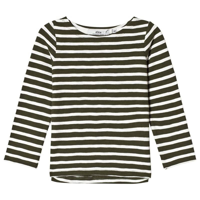 eBBe Kids Pixel L/S Tee Green Nature/Offwhite92 cm
