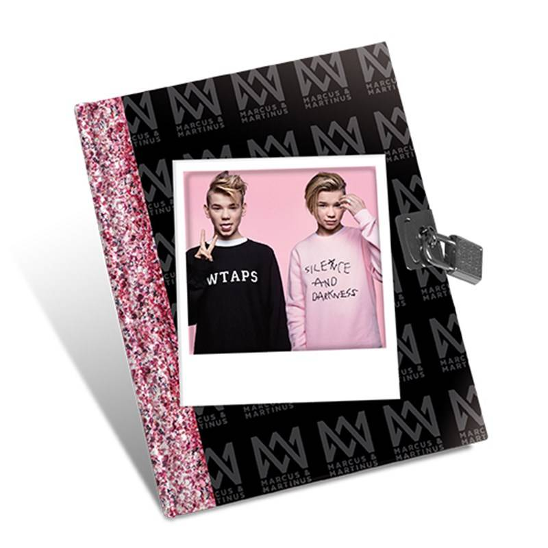 Marcus & Martinus Diary w/lock 80 pastel coloured sheets 13,5 x 17,5 cm