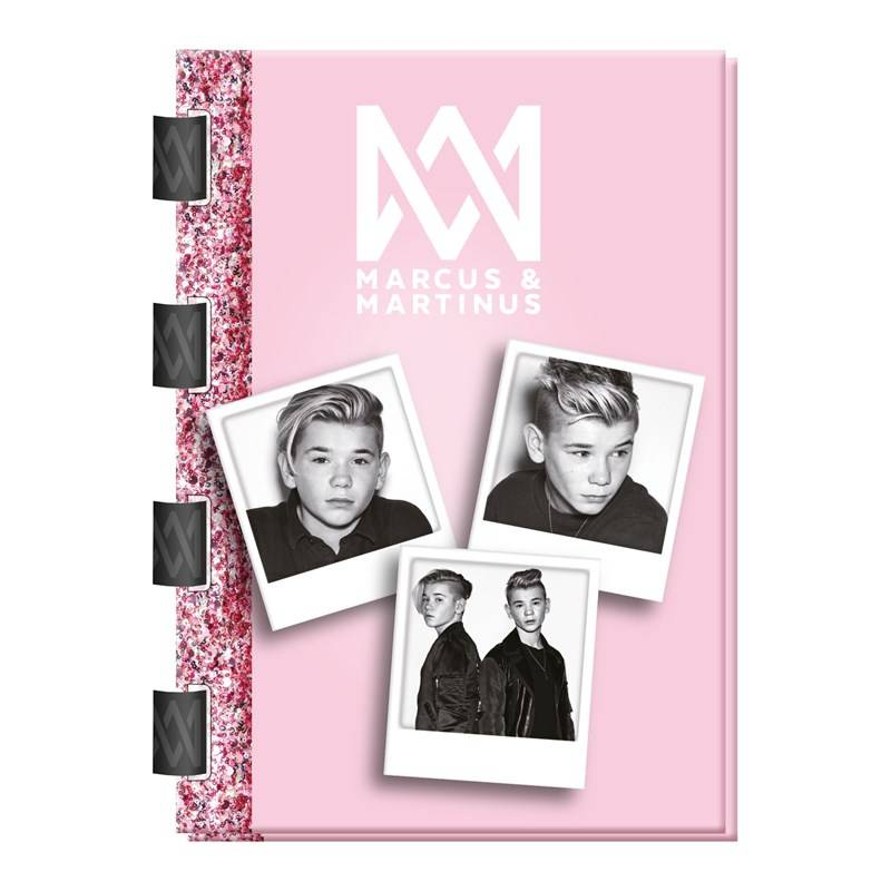 Marcus & Martinus Softcover notebook A5 eco-bind rings 60 sheets ruled