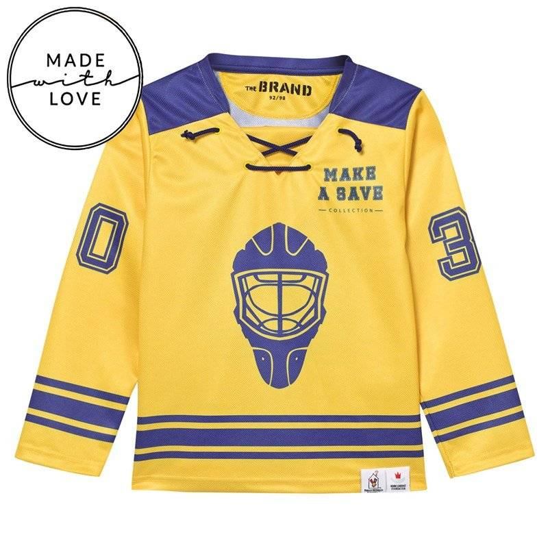 The BRAND Hockey Sweater Blue/Yellow80/86 cm