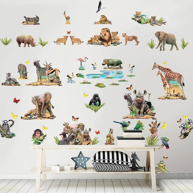 Walltastic Jungle Safari Room Décor Kit