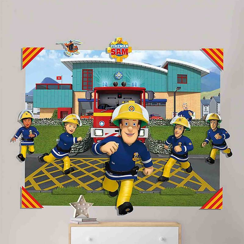 Walltastic Fireman Sam 3D Pop-Out Wall Decoration