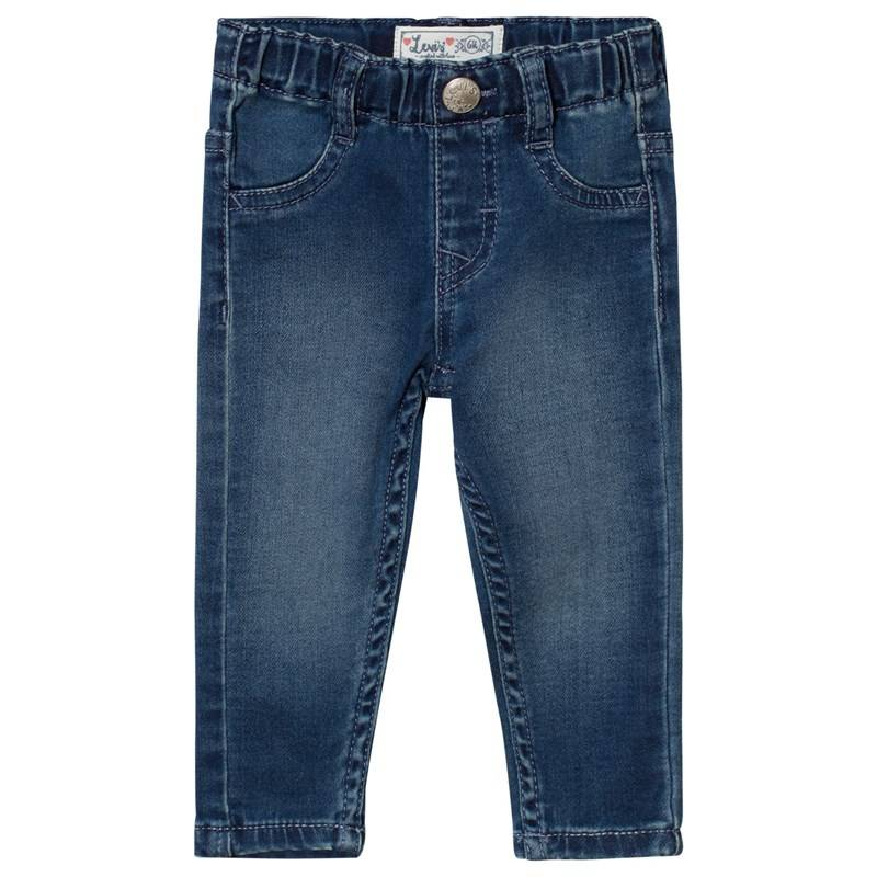 Levis Kids Blue Mid Wash Pull Up Jeans6 months