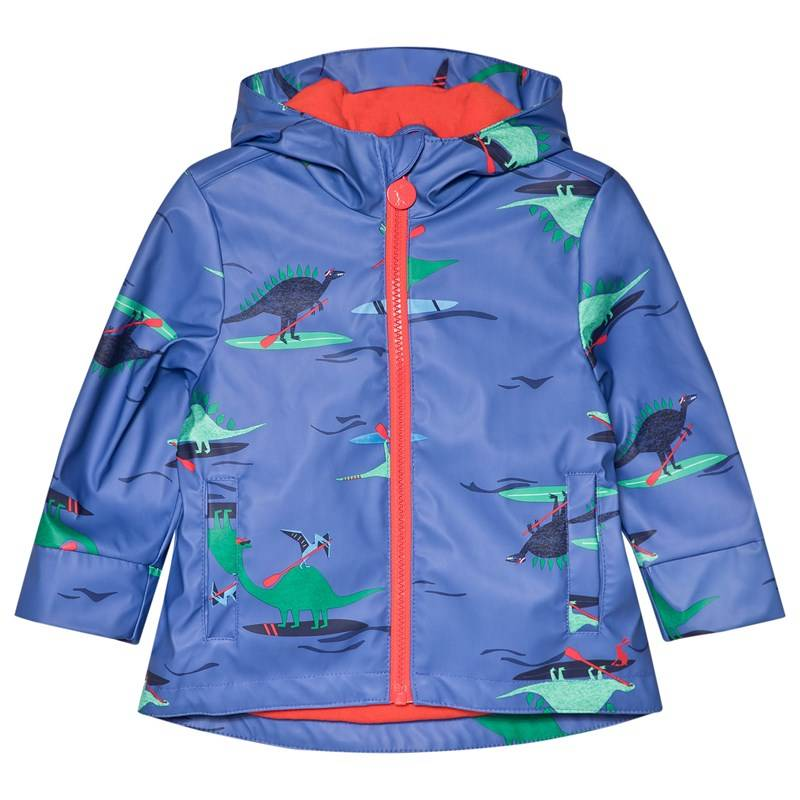 Joules Blue Dino Paddle Printed Rubber Raincoat1 year 368f1d362e