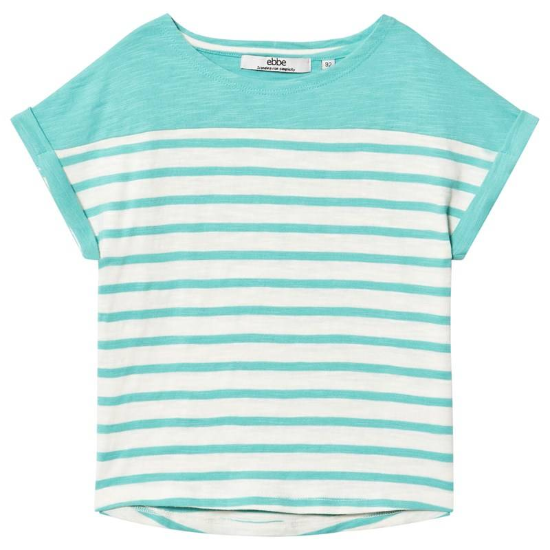 ebbe Kids Ljung T-paita Off-white/Blue turquoise92 cm