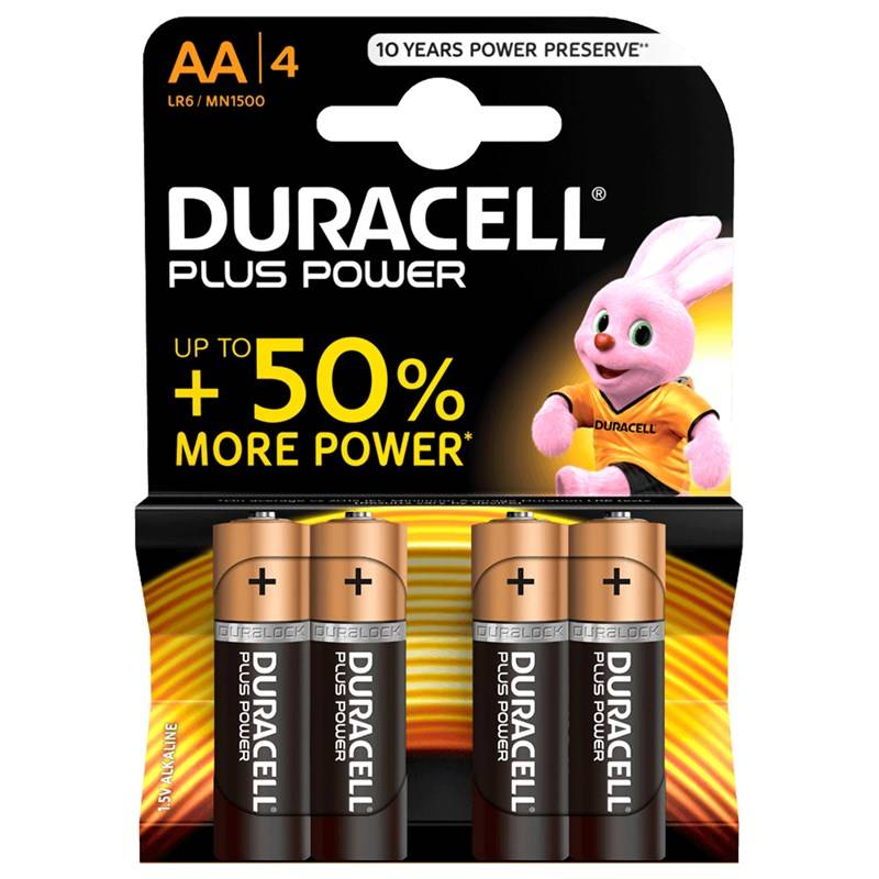 Duracell 4-Pack Plus Power AA-paristot