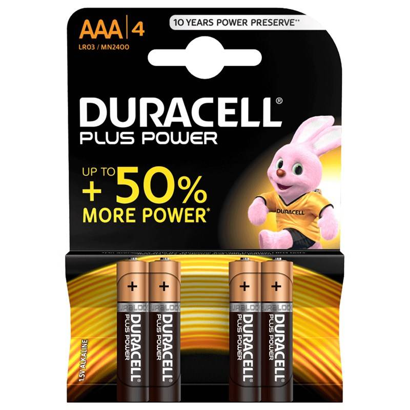 Duracell 4-Pack Plus Power AAA-paristot