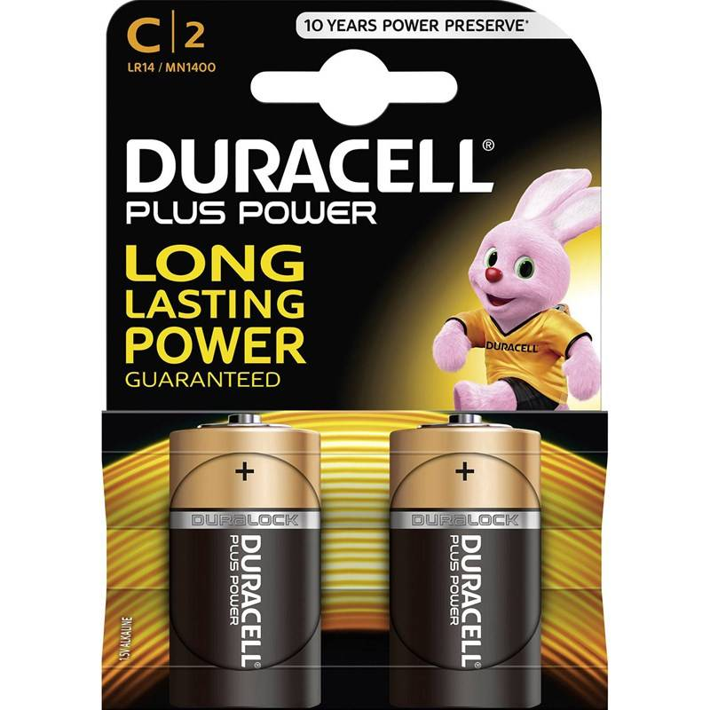 Duracell 2-Pack Plus Power C-paristot