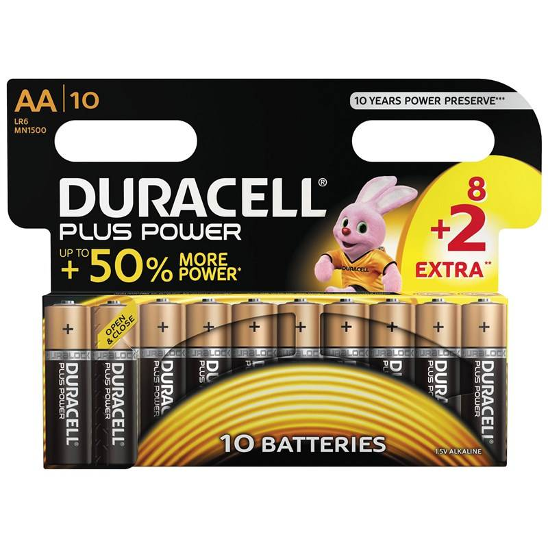 Duracell 8+2-Pack Plus Power AA-paristot