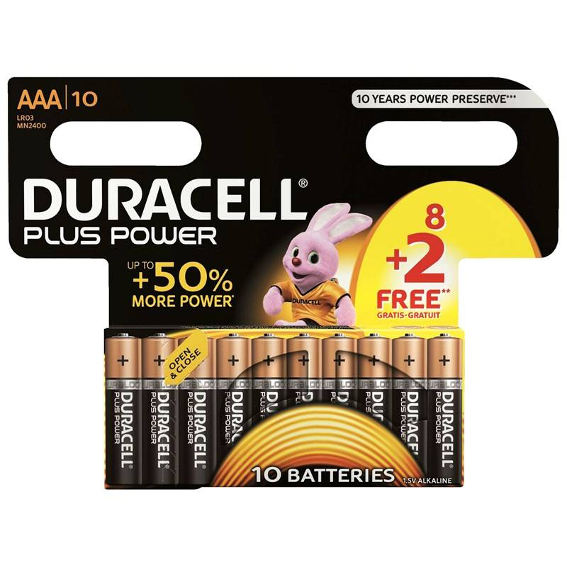Duracell 8+2-Pack Plus Power AAA-paristot