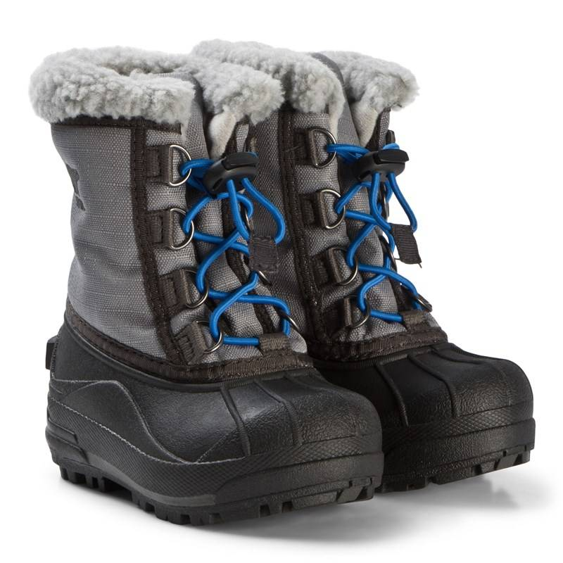 Sorel Grey and Blue Lace Cumberland Snow Boots26 (UK 8)