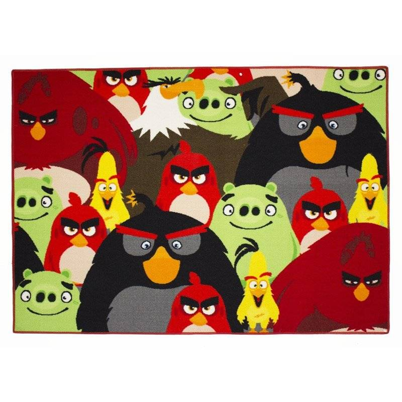 Associated Weaver Angry Birds, Matto, Group, 95 x 133 cm