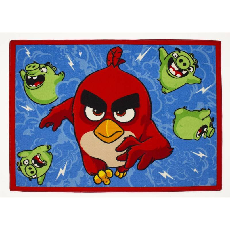 Associated Weaver Angry Birds, Matto, Feathered & furious, 95 x 133 cm