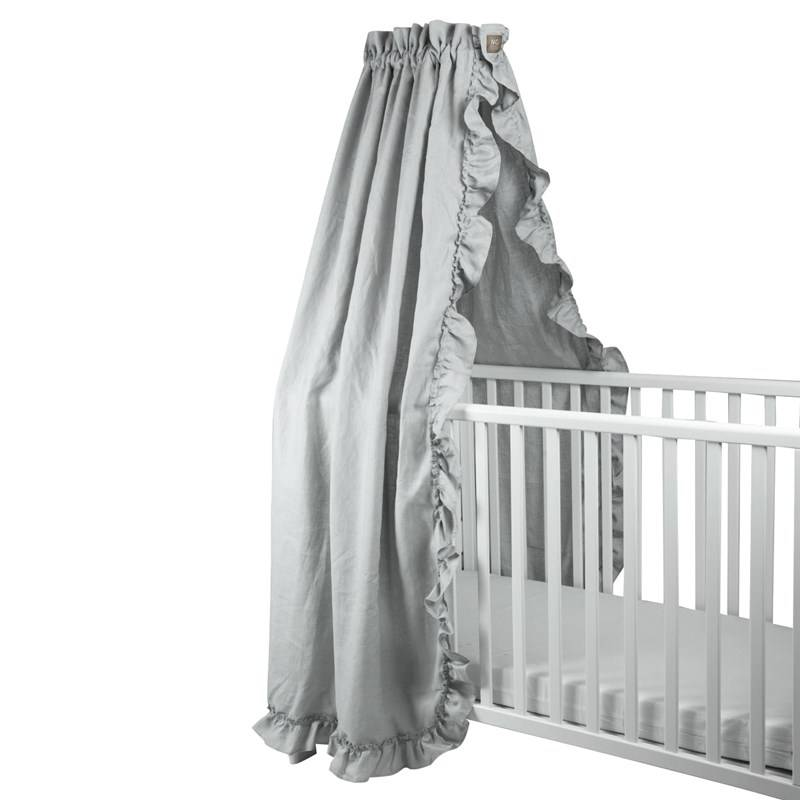NG Baby Sänghimmel Mood Ruffles light grey