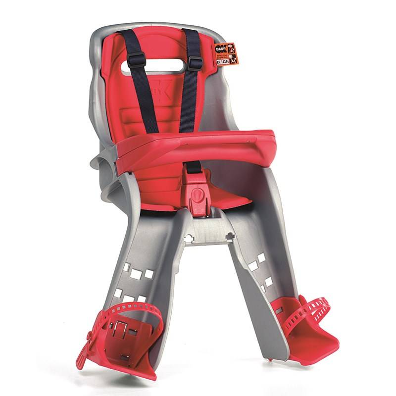 OK-baby Orion Cycle Seat Grey (Red Cushion ) - New Attachment