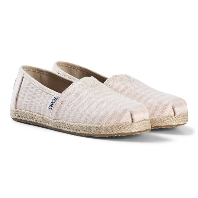 Toms Pink Stripe Woven Espadrilles with Rope Sole30 (UK 11)