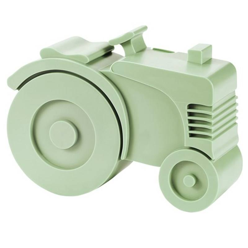 Blafre Lunch Box With 2 Compartments Tractor Shaped Light Green