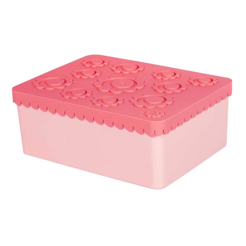 Blafre Lunch Box With 3 Compartments Flower Pink