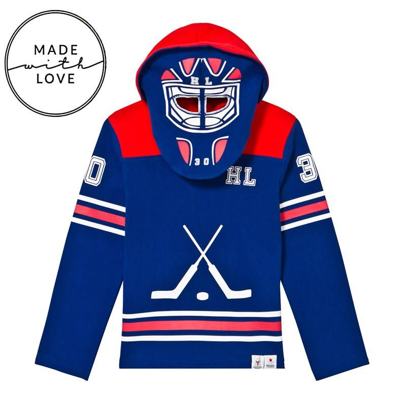 The BRAND Goalie Hoodie Red/Blue80/86 cm