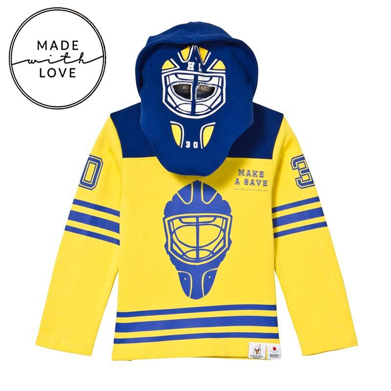 The BRAND Goalie Hoodie Blue/Yellow80/86 cm