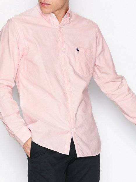 Selected Homme Slhregcollect Shirt Ls W Sts T-paidat ja topit Vaaleanpunainen