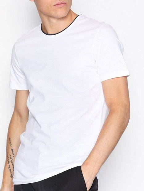 Selected Homme Shdmovo Ss O-Neck Tee T-paidat ja topit Valkoinen