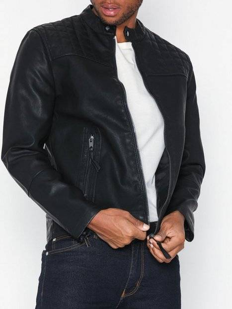 New Look Pu Central Zip Takit Black