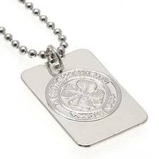 merchandise Celtic Hopea Plated Dog Tag & Chain