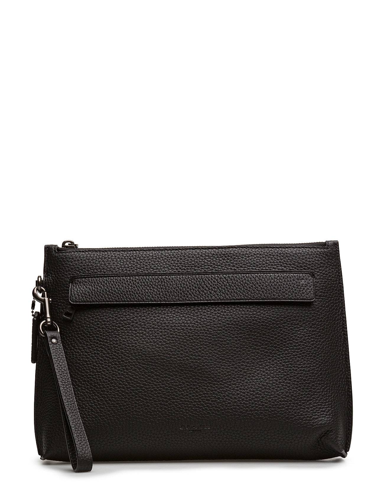 Coach Pouch In Pebbled Leather