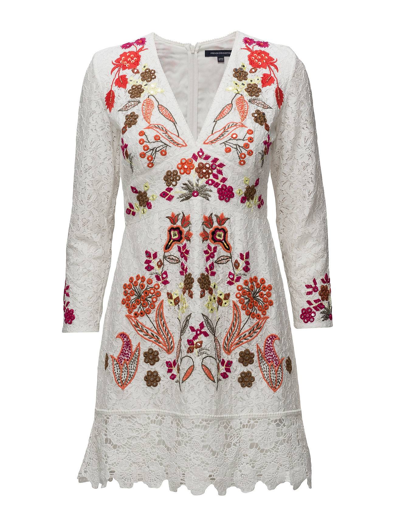 French Connection Legere Lace Floral Embroidered Dress
