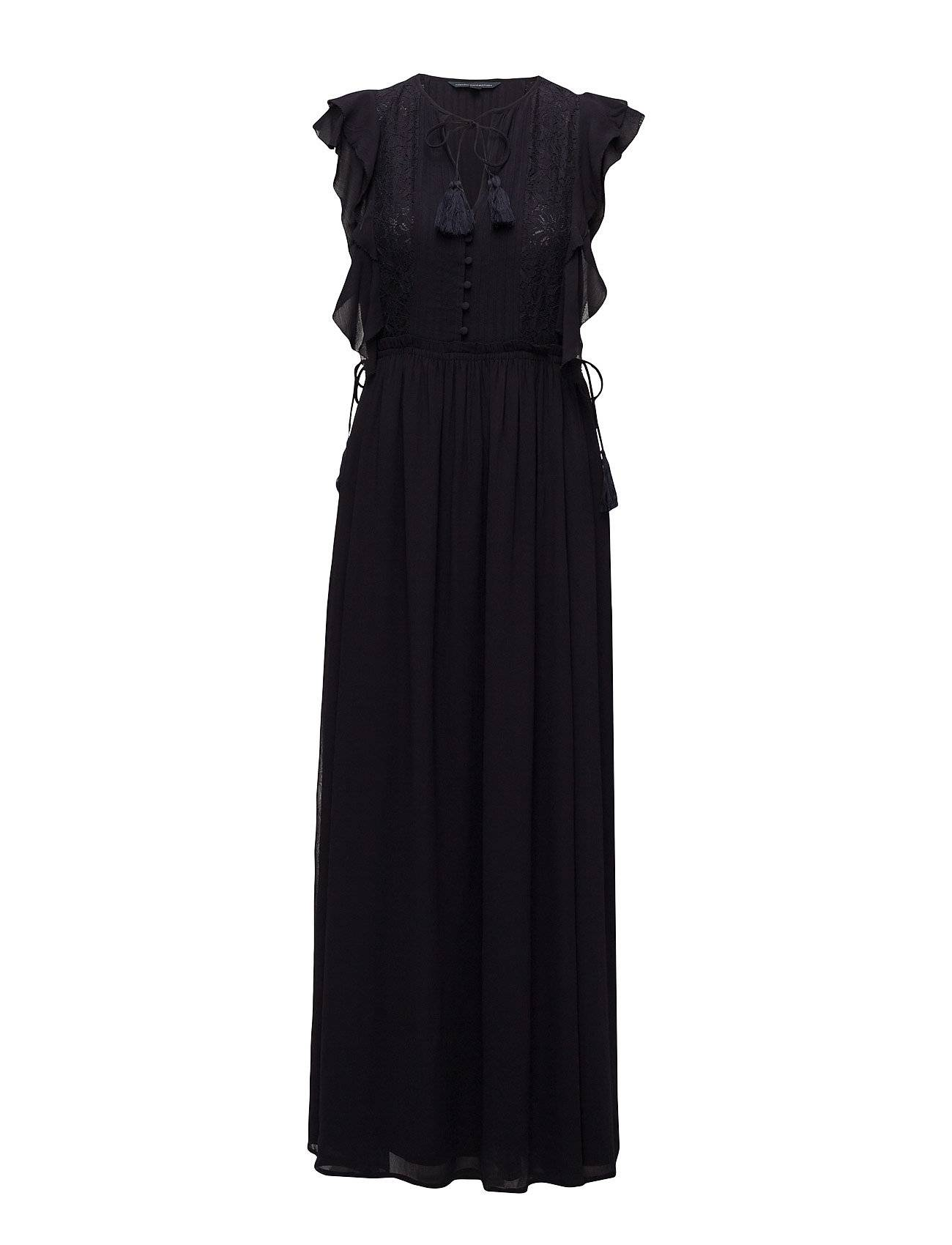 French Connection Sophie Sheer Tie Waist Maxi Dress