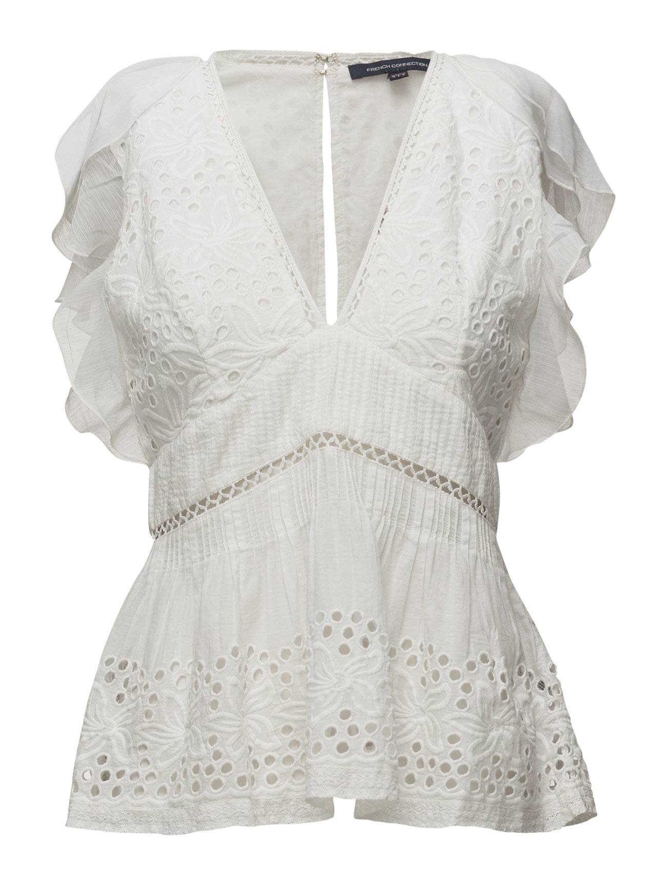 French Connection Hesse Broderie Ss Vnk Top