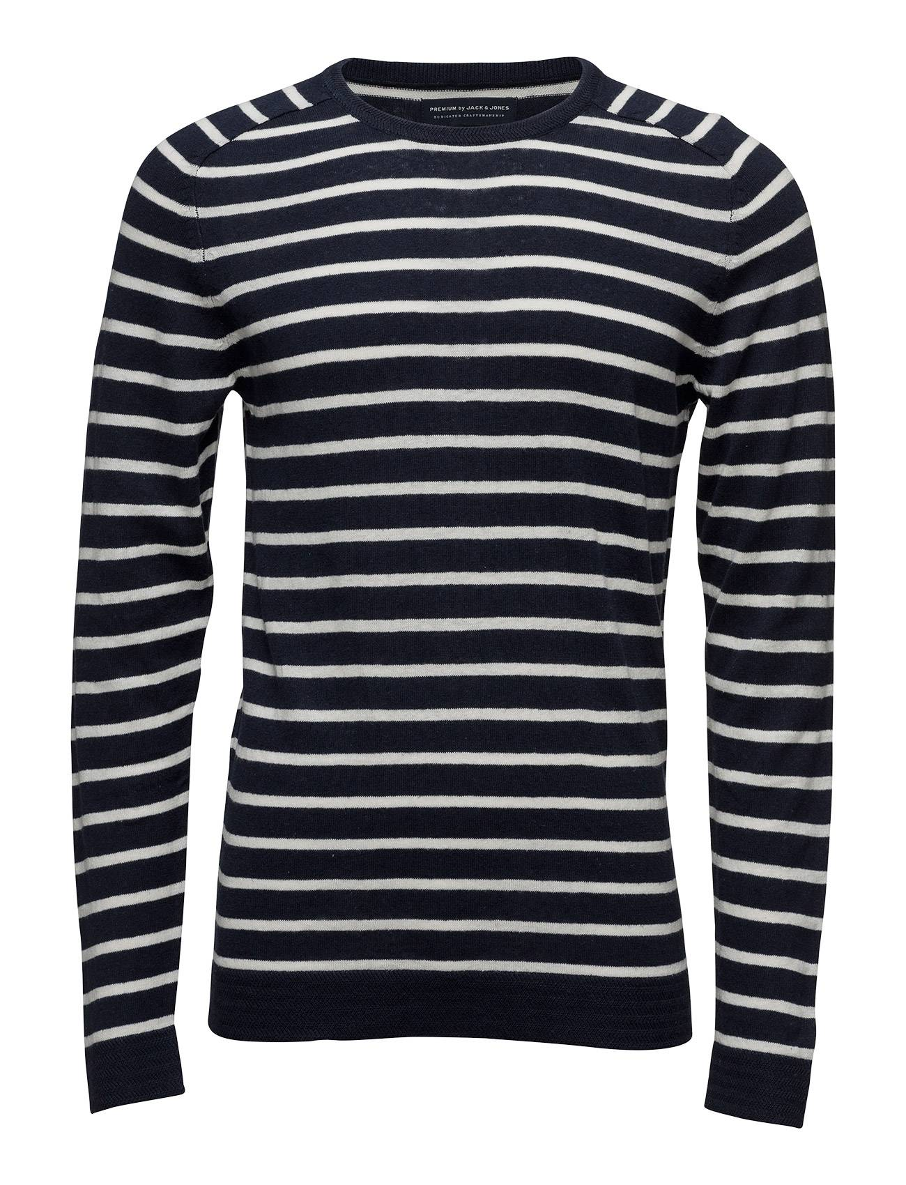 Jack & Jones Premium Jpribe Knit Crew Neck Stripe Sts