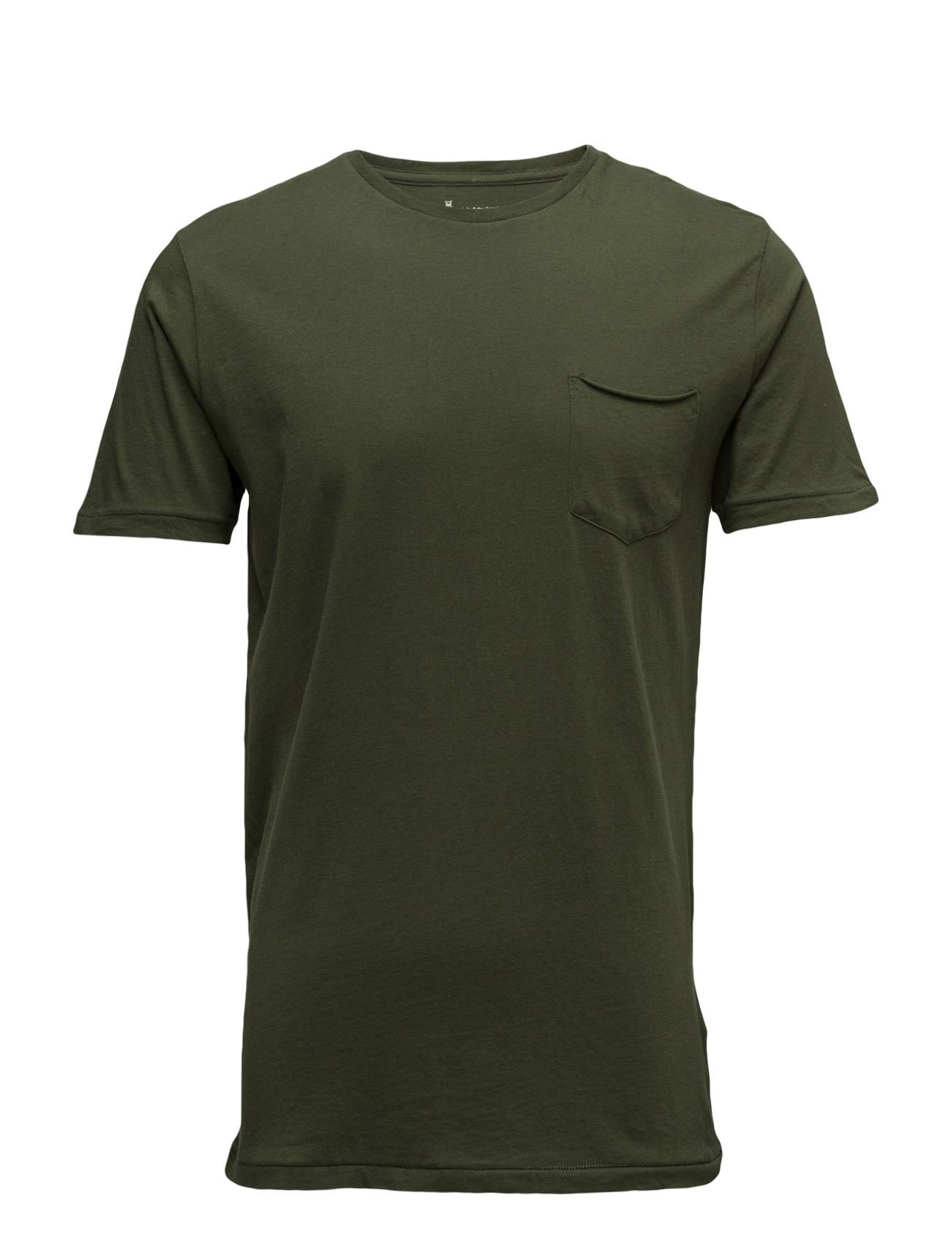 Knowledge Cotton Apparel Basic Tee With Chest Pocket Gots